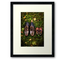 father and child Framed Print