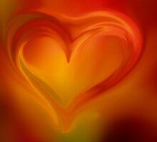 Flaming Heart  by Nicole  Markmann Nelson