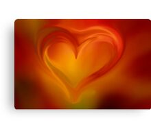Flaming Heart  Canvas Print
