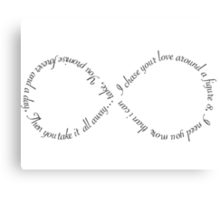 "Ellie Goulding ""Figure 8"" Proper Lyrics Canvas Print"