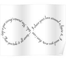 """Ellie Goulding """"Figure 8"""" Proper Lyrics Poster"""