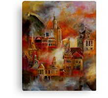 Dinant and a few typical buildings Canvas Print