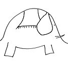Funny sketch of elephant by Solotry