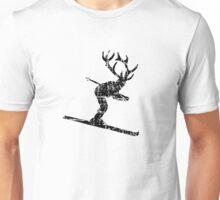 Ski Stag Skier Vintage Unisex T-Shirt