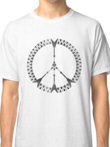 peace love rock'n'roll | black ink edition Classic T-Shirt