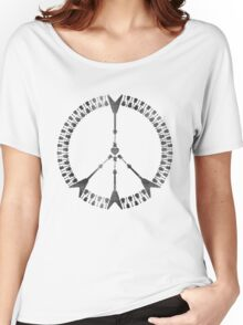 peace love rock'n'roll | black ink edition Women's Relaxed Fit T-Shirt