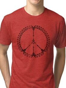 peace love rock'n'roll | black ink edition Tri-blend T-Shirt