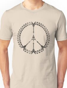 peace love rock'n'roll | black ink edition Unisex T-Shirt