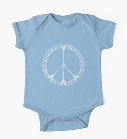peace love rock'n'roll | white ink edition One Piece - Short Sleeve
