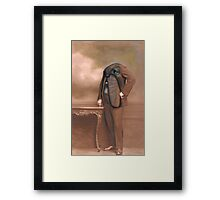 Repainted Vintage Photo in Oils - Dog Face Framed Print
