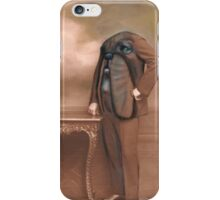 Repainted Vintage Photo in Oils - Dog Face iPhone Case/Skin