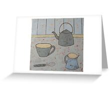 A cup of strong tea  Greeting Card