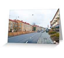 Linnégatan in Limhamn, Sweden Greeting Card