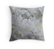 Bed of White Throw Pillow