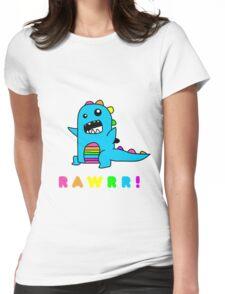- Dinosaur! xo Womens Fitted T-Shirt