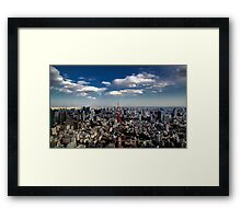 Tokyo skyline from the Mori Tower, Roppongi Framed Print