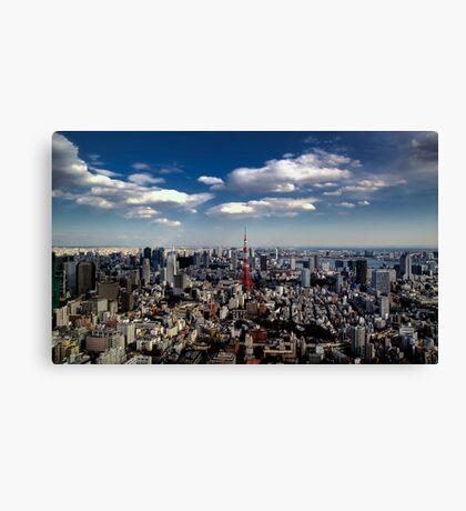 Tokyo skyline from the Mori Tower, Roppongi Canvas Print