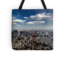 Tokyo skyline from the Mori Tower, Roppongi Tote Bag