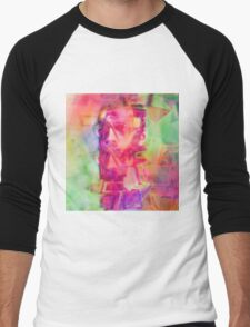 Trippy Psychedelic Abstract Guy Men's Baseball ¾ T-Shirt