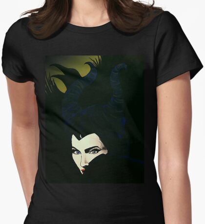 Maleficent Womens Fitted T-Shirt