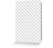 Tile Illusion - White Greeting Card