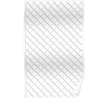 Tile Illusion - White Poster