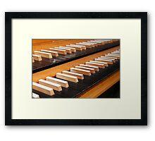 Pipe organ keyboard  Framed Print