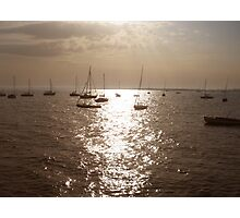 Boats in the Sunset Photographic Print