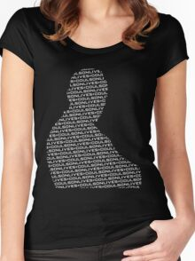 #CoulsonLives - Light on Dark Women's Fitted Scoop T-Shirt