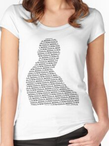 #CoulsonLives - Dark on Light Women's Fitted Scoop T-Shirt