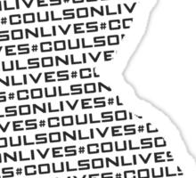 #CoulsonLives - Dark on Light Sticker