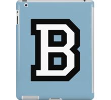 Letter B two-color White iPad Case/Skin