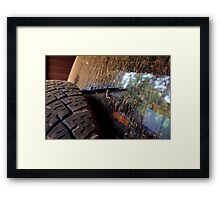 Back window 4x4 Framed Print