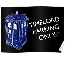 Time Lord Parking Only Poster