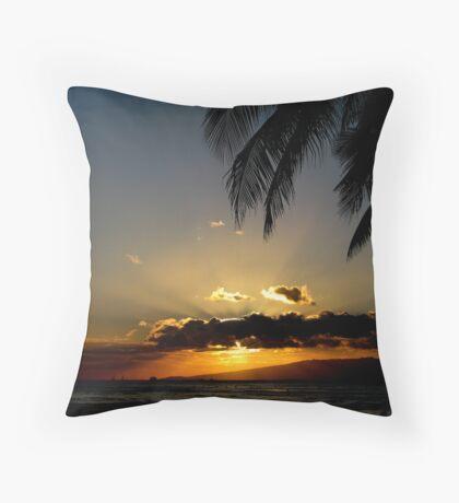 Waikiki Sunset Throw Pillow