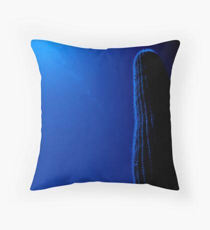 Blue Saguaro Throw Pillow