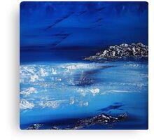 Winter scene in the alps Canvas Print