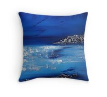 Winter scene in the alps Throw Pillow