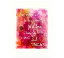 A Man's Last Romance Art Print