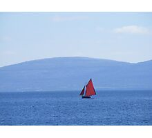 Galway Hooker Coloured Photographic Print