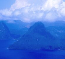 The Pitons by Carol Barona