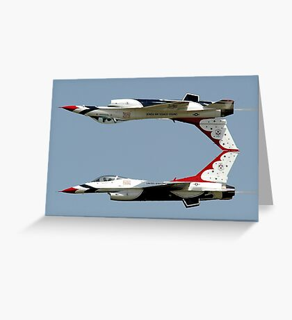 Thunderbirds - USAF US Air Force Display Team - Great aviation photo Greeting Card