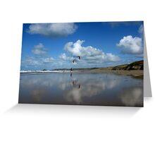 Beach Reflection Greeting Card