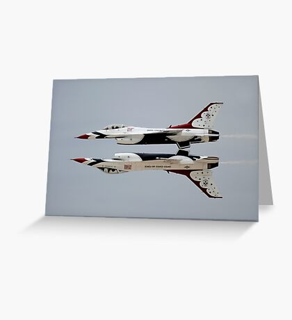 Thunderbirds - USAF US Air Force Display Team - Great Aviation Aerial Photo Greeting Card