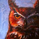 Wisdom: Great Horned Owl by Rosemary Conroy