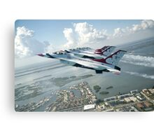 Thunderbirds - F-16 Fighting Falcaon - US Air Force Display Team - USAF - Great Aviation Photo Canvas Print
