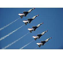 Thunderbirds - F-16 Fighting Falcaon - US Air Force Display Team - USAF - Great Aviation Photo Photographic Print