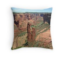 Spider Rock, Canyon De Chelly Throw Pillow