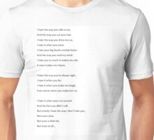 ten things i hate about you quote Unisex T-Shirt