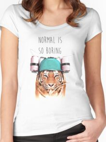 Swaggy Tiger Women's Fitted Scoop T-Shirt